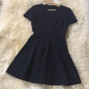 Theory Blue Skater Dress